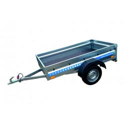 Prívesný vozík BORO 7202 vyššie bočnice - širší