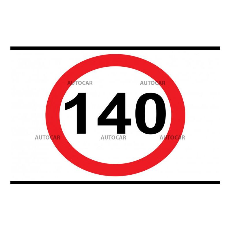 Nálepka rýchlosť 140km/hod - malá