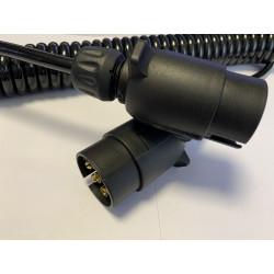 Prepojovací špirálový kábel - 2x zástrčka 7-PIN