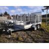 Prívesný vozík B3535HTP na prepravu stavebných strojov