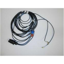 Kábel 4,85m - 7 pól zástrčka - 5 pól zakončenie s vývodom na poz. svetlá