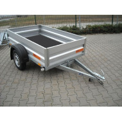 Prívesný vozík VIKI - sklopný,odnímatelné bočnice,zváraný rám