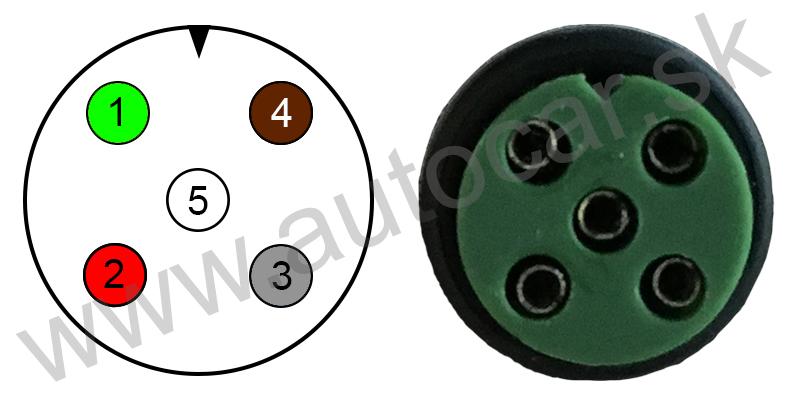 Schéma 5 pin pravý
