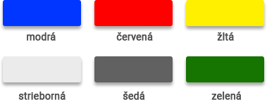Farebné variácie plachiet